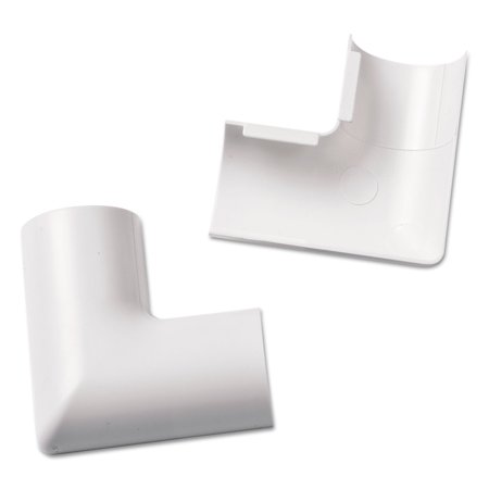 clip over flat bend for mini cord cover white 2 per pack. Black Bedroom Furniture Sets. Home Design Ideas