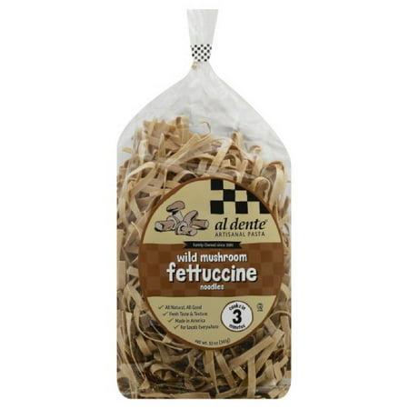 Portobello Mushroom Pasta (Al Dente Fettuccine Noodles Wild Mushroom, 12 Oz (Pack of 6) )