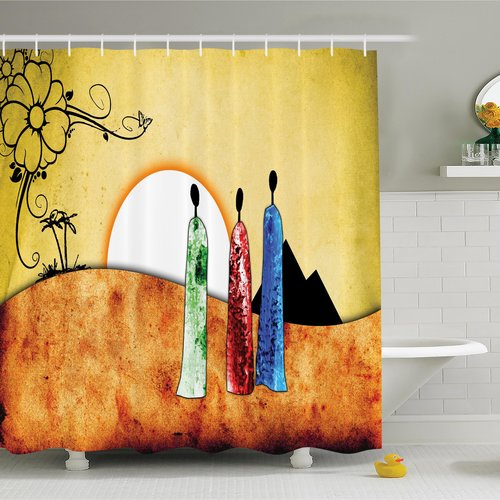 Bloomsbury Market Jodie Tribe Facing Sunrise Shower Curtain