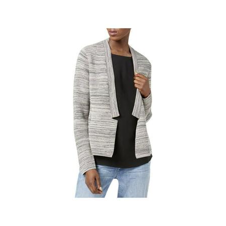 Womens Petites Organic Cotton Long Sleeves Cardigan Sweater