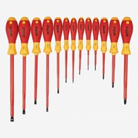 Wiha 32094 Insulated Slotted and Phillips Screwdriver Set, 13 Pieces