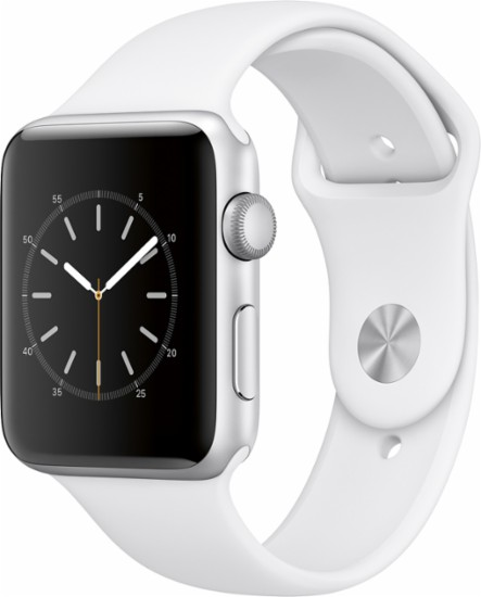 Apple Watch Series 2 42mm Silver Aluminum Case with White Sport Band by Apple