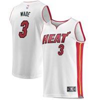 Dwyane Wade Miami Heat Fanatics Branded Fast Break Home Jersey White - Association Edition
