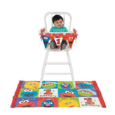 IN-13783154 Sesame Street Elmo Turns One High Chair Kit by Fun Express