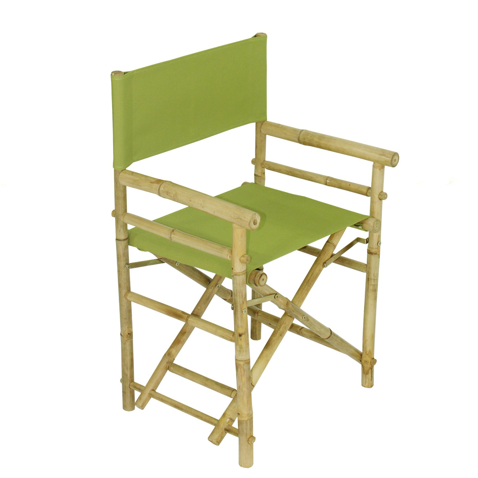 Statra Bamboo Indoor Outdoor Canvas Director Chair - Set of 2