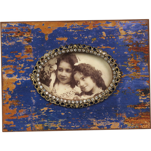 Wilco Royal Blue Picture Frame with Rhinestones, Royal Blue