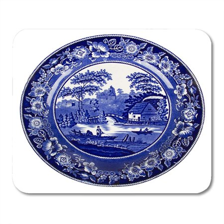 - KDAGR Pottery Blue Delft Very Old Dutch Plate White Porcelain Antique Mousepad Mouse Pad Mouse Mat 9x10 inch