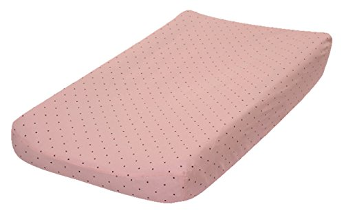 Click here to buy Go Mama Go Pink with Chocolate Polka Dots Changing Pad Cover, Pink Brown by Go Mama Go Designs.