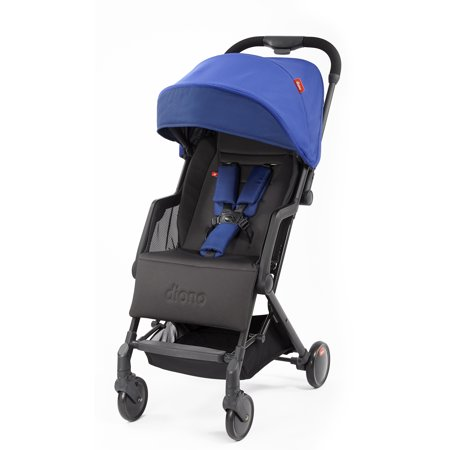Diono Traverze Plus Lightweight Compact Stroller with Easy Fold, Travel Cover and Luggage Handle; Blue