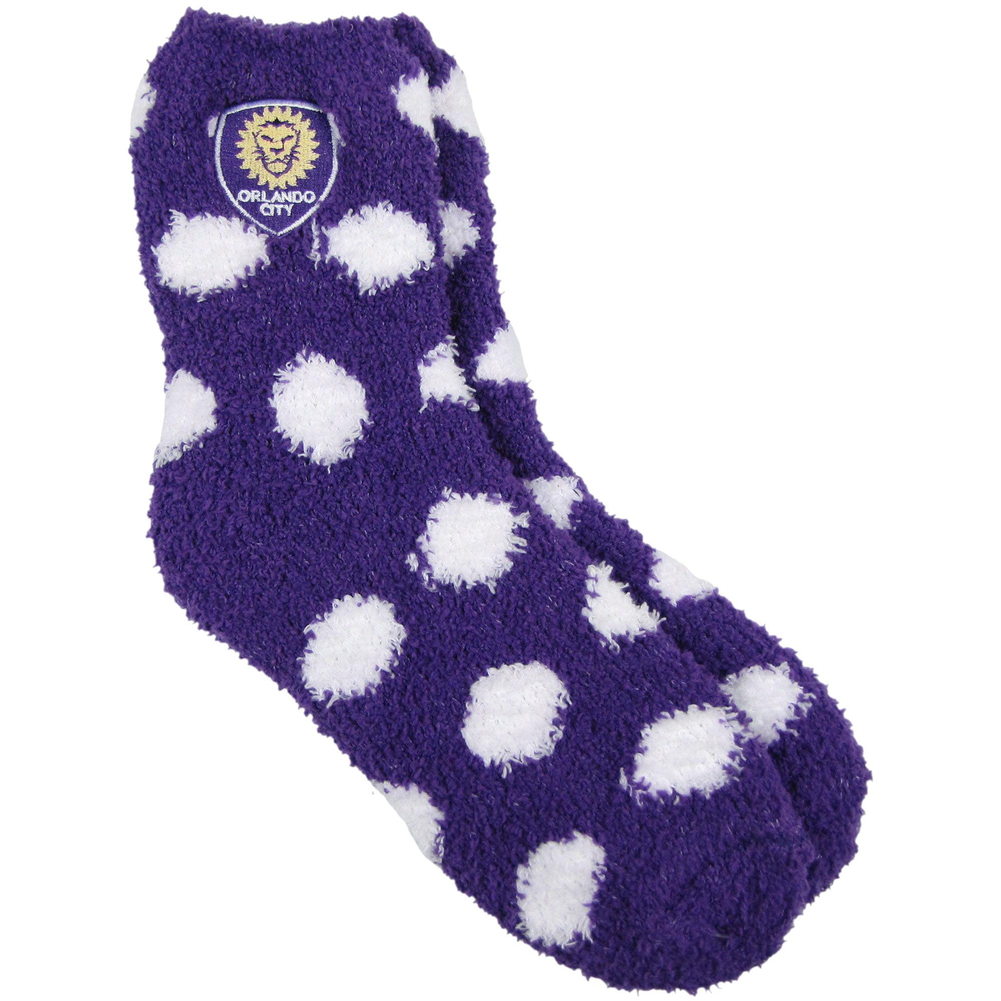 Orlando City SC ZooZatz Women's Fuzzy Dot Ankle Socks - No Size