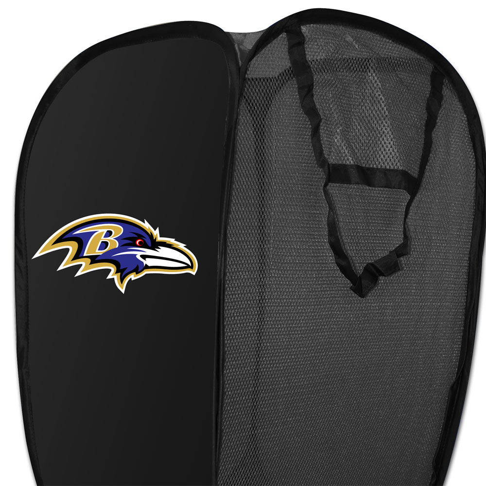 NFL Baltimore Ravens Pop-Up Laundry Hamper Football Team Logo Storage Basket