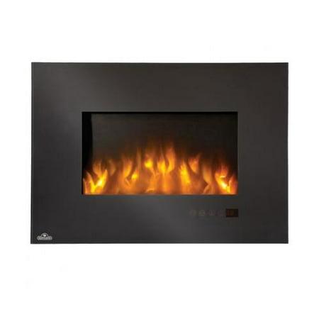 Napoleon Efl32h 32 Slimline Wall Mount Electric Fireplace With 5000 Btus 1500 Watts Heating