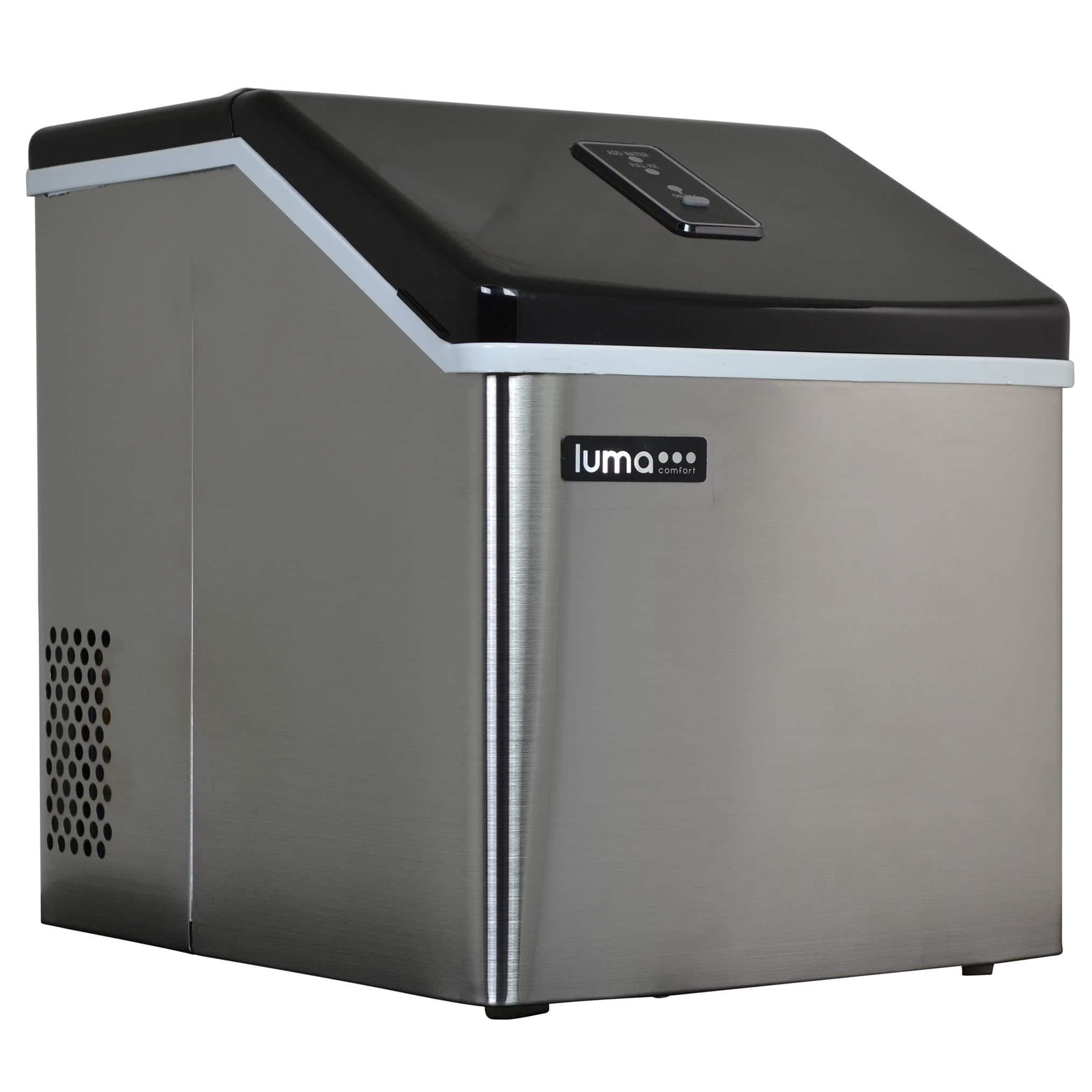 Luma Comfort Portable Clear Ice Maker, 28lb Daily Production - Slow Melting Ice