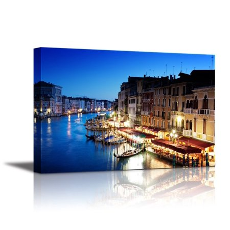 Canvas Wall Art Grand Canal In Venice Italy At Sunset Modern Home Decor Canvas Prints Giclee Printing Wrapped Ready To Hang 32 X 48