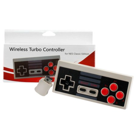 Replacement WIRELESS Gaming Pad Controller For Nintendo NES Mini Classic Edition Game Console Systems
