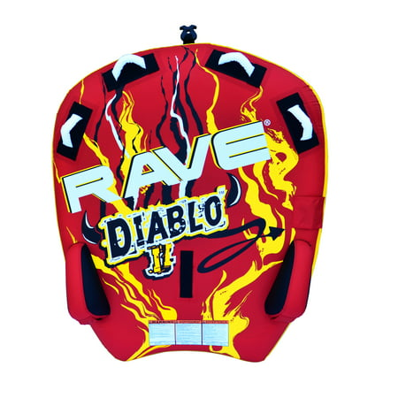 Boat Towable (RAVE Sports Diablo II Inflatable 2 Person Rider Towable Boat Water Tube Raft )