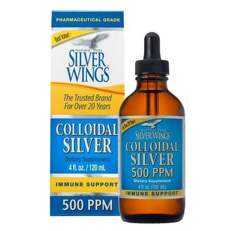 Dietary Mineral Supplement, Colloidal Silver, 500 PPM, 4 fl. oz. / 120 ml