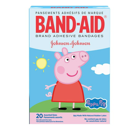 Image of Band-Aid Bandages, Peppa Pig, Assorted Sizes 20 ct