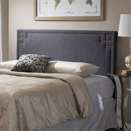 Baxton Studio Geneva Modern and Contemporary Upholstered Headboard, Multiple Sizes and Colors