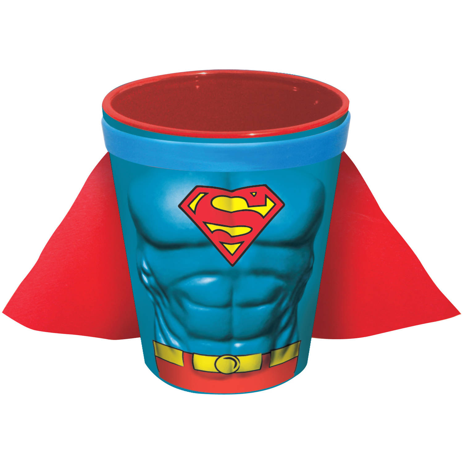 ICUP DC Comics Superman Character Chest Molded Ceramic Caped Shot Glass