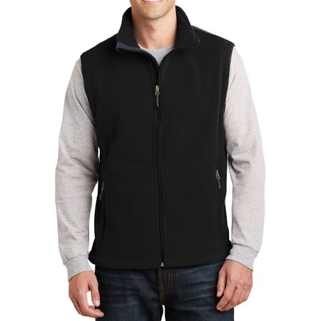 - Mafoose Men's Super Soft Value Fleece Vest Black X-Small