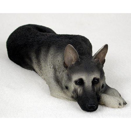 DFL08B CON German Shepherd Black & Silver My Dog Figurine ()