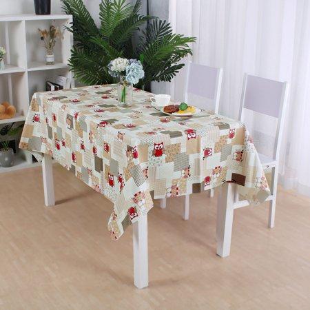 "Tablecloth PVC Rectangle Table Cover Oil Resistant Table Cloth 54"" x 71"", #4 - image 2 de 7"