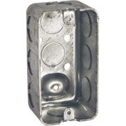Raco  4 in. Rectangle  Steel  1 gang Outlet Box  Gray
