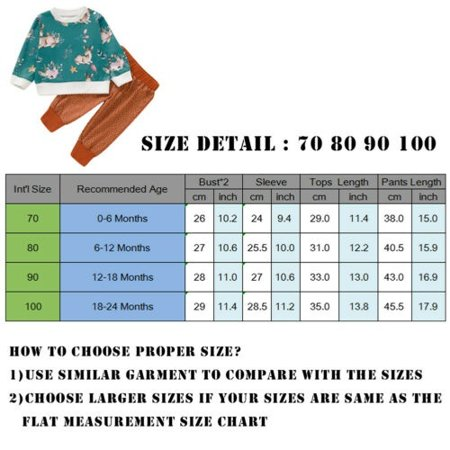 Newborn Kid Baby Girl Christmas Xmas Deer Clothes Top T-shirt Pants Outfit Set 0-24Months - image 3 of 5