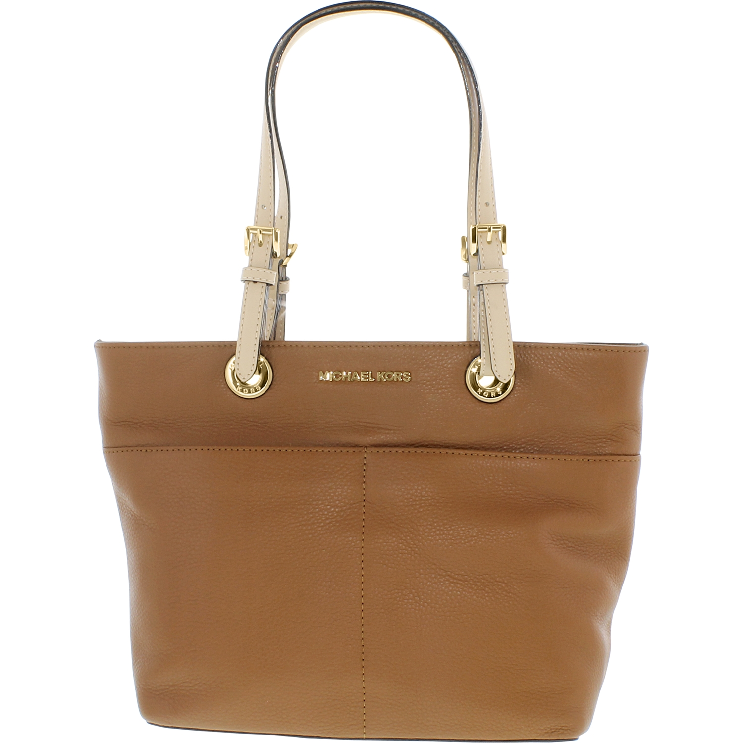 4f37e7e20143 Michael Kors - Michael Kors Women s Large Elana East West Leather  Top-Handle Bag Tote - Brown - Walmart.com