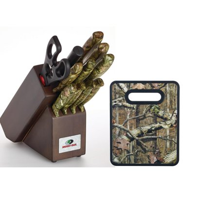 (Mossy Oak 12 Piece Knife Block Set with 8