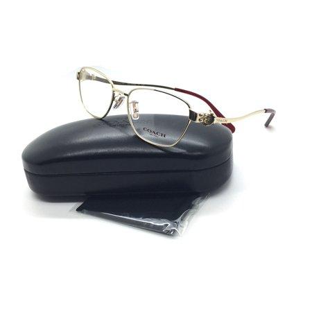 Coach Women Gold Square New Eyeglasses HC 5086 Burgundy 9297 60 -