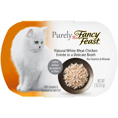 Halloween Food Appetizers (Purina Purely Fancy Feast Appetizers White Meat Chicken in a Delicate Broth Wet Cat Food, 2 Oz, 10)