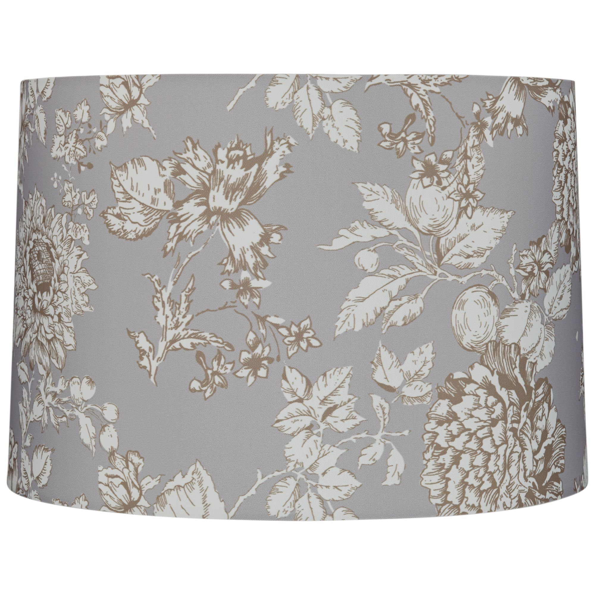 Springcrest Brown And Creme Floral Drum Lamp Shade 15X16x11 (Spider)
