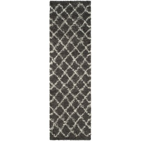 Safavieh Dallas Shag 3' X 5' Power Loomed Rug in Dark Gray and Ivory - image 10 de 10
