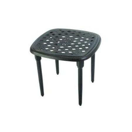 Hampton Bay Woodbury Patio Accent Table Hampton Outdoor Pedestal Table