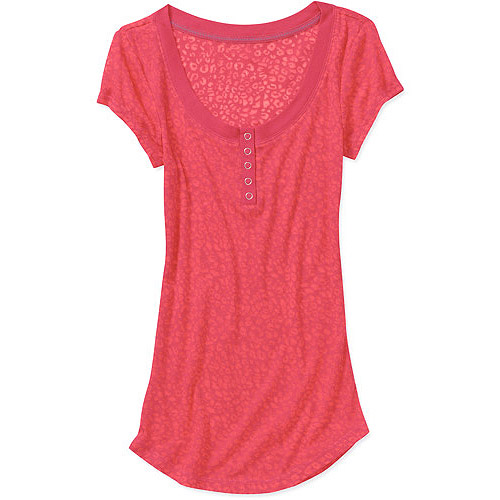 L.E.I. Juniors Knit Scoop Henley