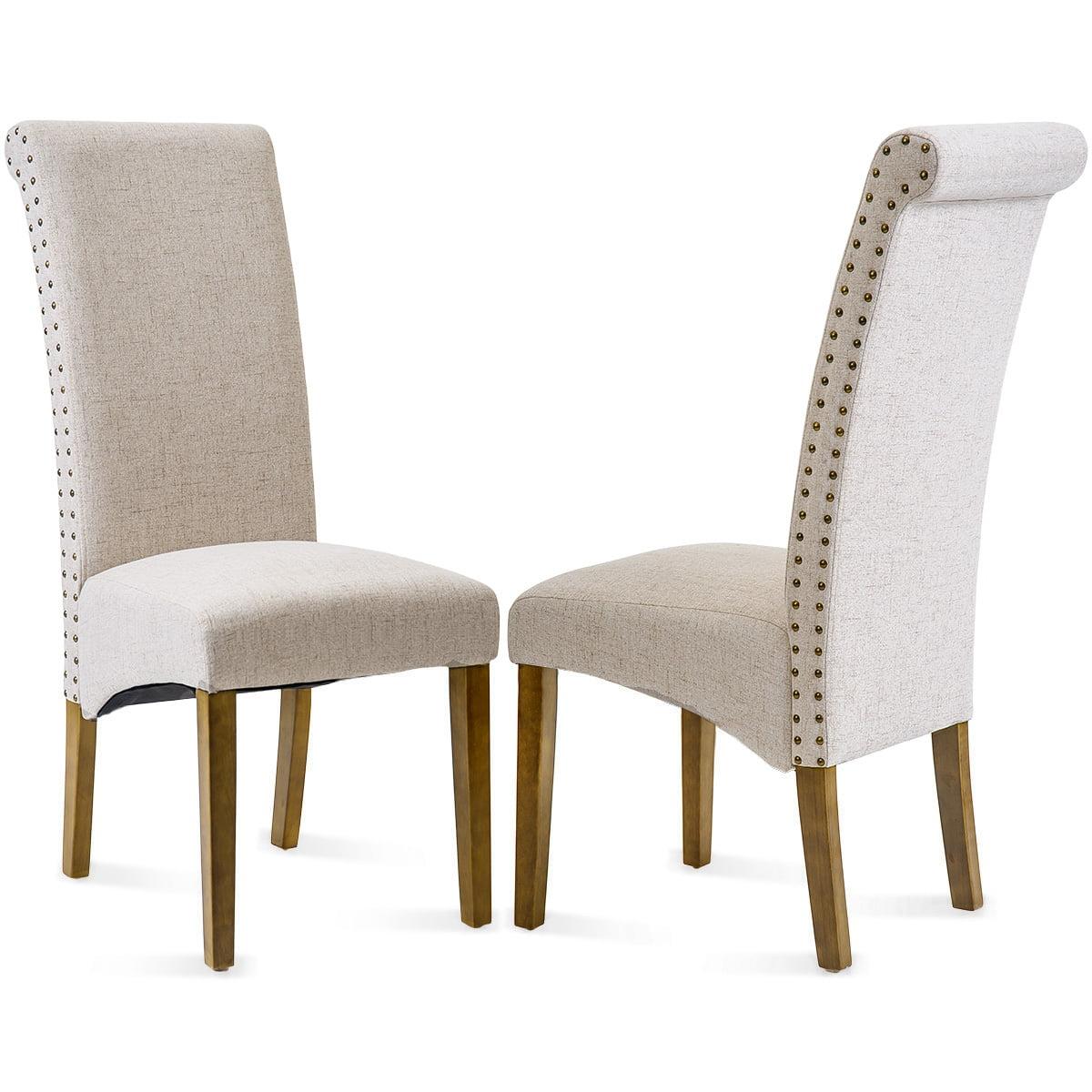 41'' x 17'' x 20'' Linen Classic Fabric Dining Chair ...
