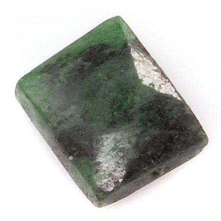 Faceted Rectangle Shape - Green & Black Zoisite Faceted Rectangle Gemstone Beads 8-13mm (10)