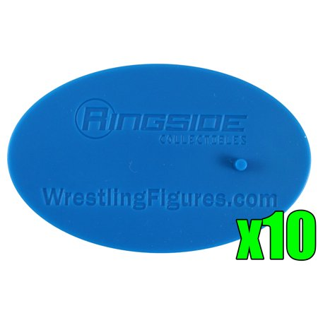 Collectible Wrestling Figure - 10-Pack of Display Stands (Blue) - Ringside Collectibles Exclusive Toy Wrestling Figure Accessories