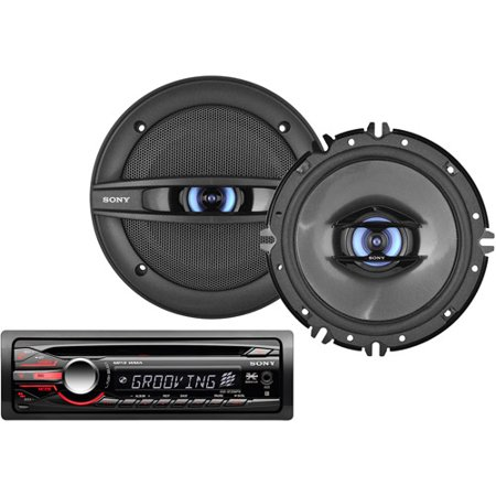Auto Car Stereo with (2) Speakers + Optional Accessories Bundle from Boss, Kenwood, Pioneer,