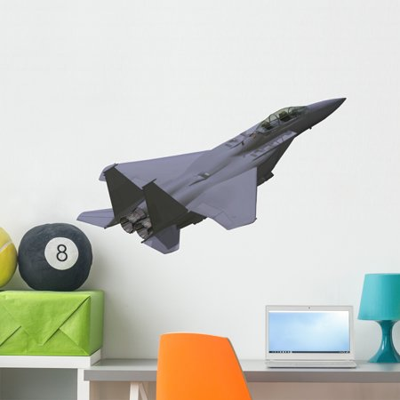 Military Airplane Wall Decal Sticker by Wallmonkeys Vinyl Peel and Stick  Graphic (36 in W x 21 in H)