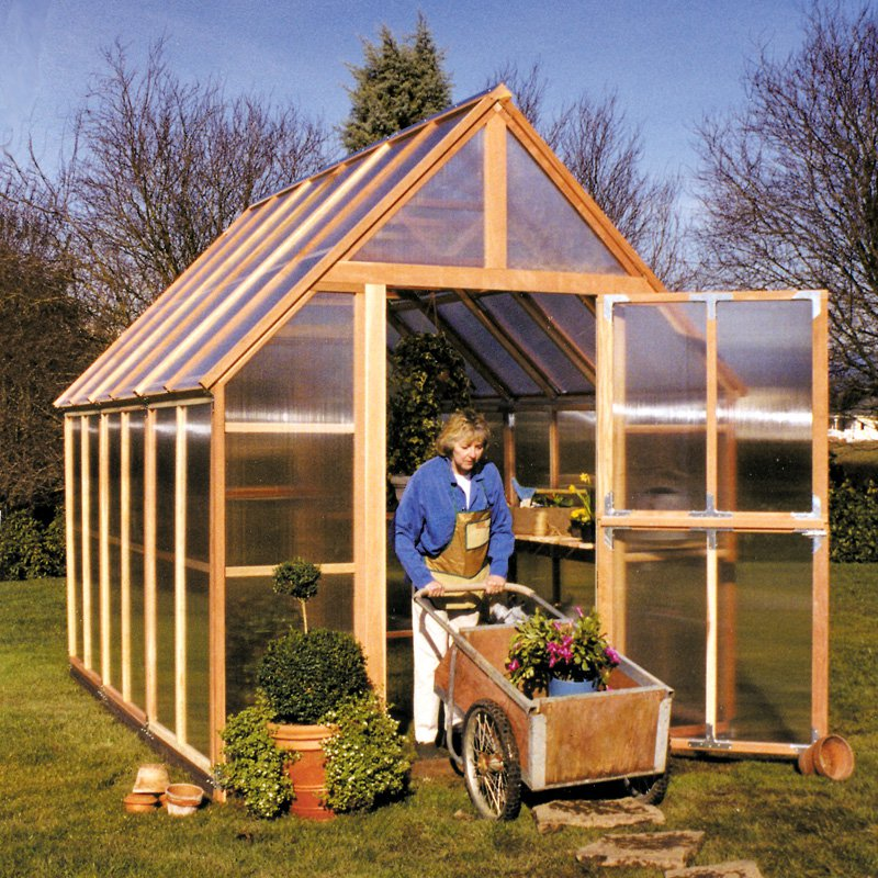 Sunshine Mt. Rainier 8 x 12 Foot Greenhouse Kit