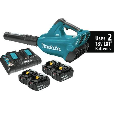 Makita XBU02PT1 18V LXT Brushless Cordless Blower Kit with 4 Batteries