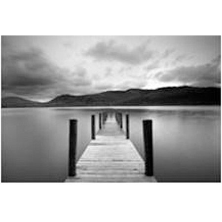 lake view from the pier black and white canvas wall art. Black Bedroom Furniture Sets. Home Design Ideas