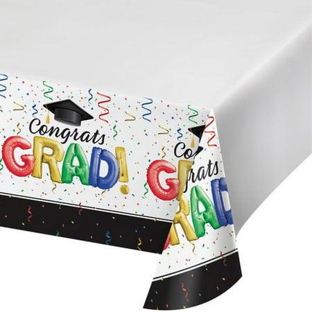 The Party Aisle Grad Plastic Tablecloth (Set of 3) - Bridal Aisle