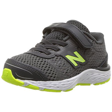 select for authentic free delivery innovative design New Balance Boys' 680V5 Hook and Loop Running Shoe, Magnet/Hi Lite, 8 W US  Toddler