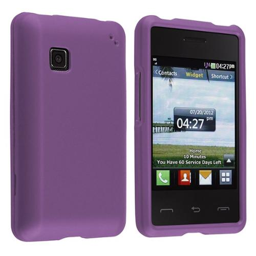 Insten Purple Rubberized Hard Case Cover For LG 840g