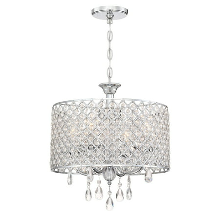 Revel briolette 16 large 4 light contemporary drum crystal revel briolette 16 large 4 light contemporary drum crystal chandelier chrome finish aloadofball Images