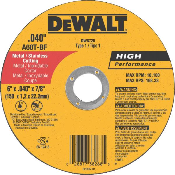DeWalt HP Cut-Off Wheel